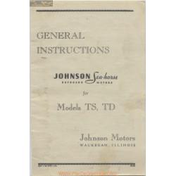 Johnson Seahorse Models Ts Td General Instruction