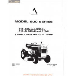Lawn & Garden 900 910 912 914 916 917 Manual 1980