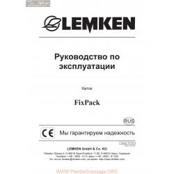 Lemken Fixpack Rus Manual De Service 175 3611