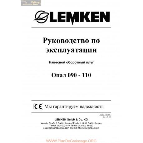 Lemken Opal 090 110 Rus Manual De Service 175 3531