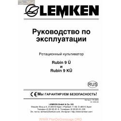 Lemken Rubin 9 9k Rus Manual De Service 175 3643