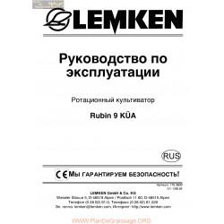 Lemken Rubin 9 Kua Rus Manual De Service 175 3830