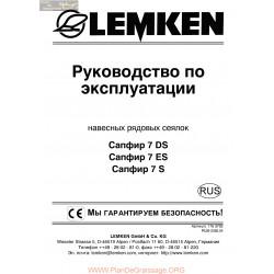 Lemken Saphir 7 Ds Es Rus Manual De Service 175 3702