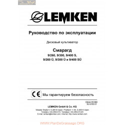 Lemken Smaragd 9s Rus Manual De Service 175 1389