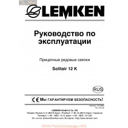 Lemken Solitair 12k Lh5000 Rus Manual De Service 175 3642