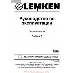 Lemken Solitair 8 Rus Manual De Service 175 3885