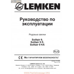 Lemken Solitair 9 Rus Manual De Service 175 3685