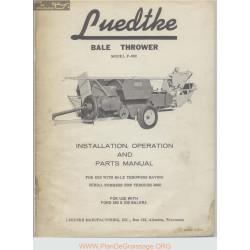Luedtke Bale Thrower Model F 660 Operators Manual