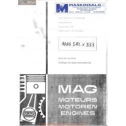 Mag 1026 Srl 333 Liste De Pieces De Rechange