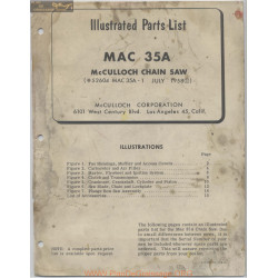 Mc Culloch Mac35a Chain Saw Instruction Manual