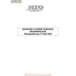 Mio F450 F500 Standard Motokultivator