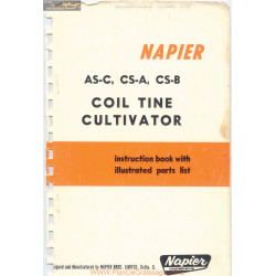 Napier Coil Tine Cultivator Asc Csa Csb Corrected Parts List