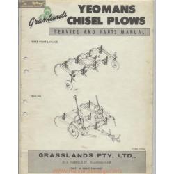 Napier Grasslands Yeomans Chisel Plows Service And Parts Manual