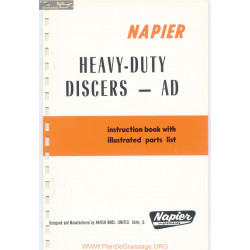 Napier Heavy Duty Discers Model Ad Parts List