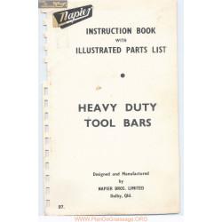 Napier Heavy Duty Toolbars D7 Parts List