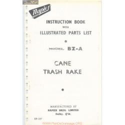 Napier Model Bz A Cane Trash Rake Parts List