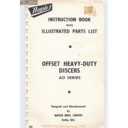 Napier Offset Heavy Duty Discers Parts List