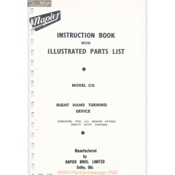 Napier Offset Right Hand Turning Device Model Cg Parts List