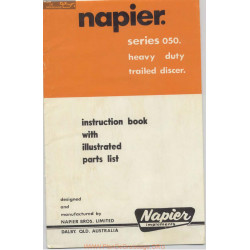 Napier Series 050 Heavy Duty Trailed Discer Instruction Book