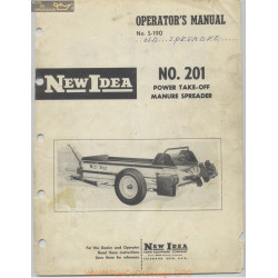New Idea 201 Power Take Off Manure Spreader Operators Manual Number S 190