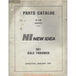 New Idea 561 Bale Thrower Parts Manual
