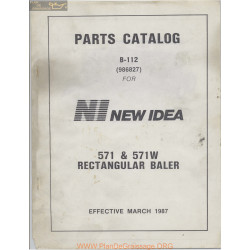 New Idea 571 571w Rectangular Baler Parts Catalog