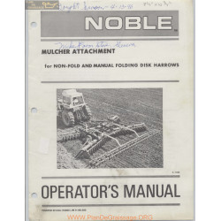 Noble Mulcher Attachment Operators Manual