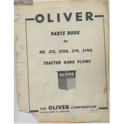 Oliver 312 312a 314 Parts Book