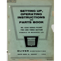Oliver 4240 Plows Two And Three Bottom Setting Operating Instructions