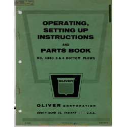 Oliver 4340 3 4 Bottom Plow Operating Setting Instructions