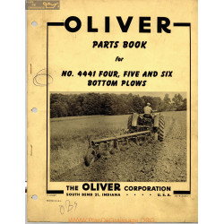 Oliver 4441 Four Five Six Bottom Plows Parts Book