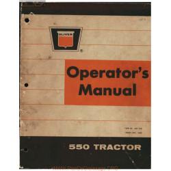 Oliver 550 Tractor Operators Manual 1963