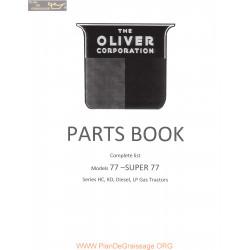 Oliver 77 Super77 Parts Book