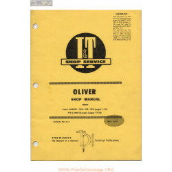 Oliver 950 990 995 770 880 99gmtc Tractors Shop Manual O 13