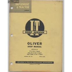 Oliver 99 99gm Tractors Shop Service O 7 1956