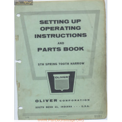 Oliver Sth Spring Tooth Harrow Setting Up Instructions And Parts Book C74c