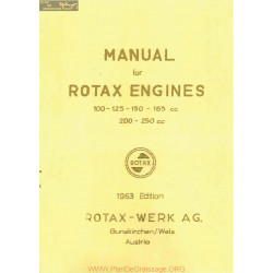 Rotax Engines 100 125 150 165 200 250 Manual 1963