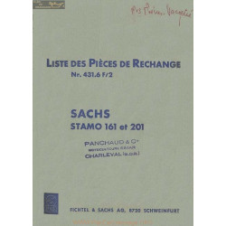 Sachs 161 201 Stamo Liste Pieces Rechange 431 6f2