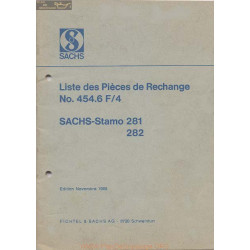 Sachs 281 282 Stamo Liste Pieces Rechange 1969 454 6f4
