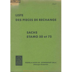 Sachs 50 75 Stamo Liste Pieces Rechange 4106f