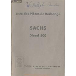 Sachs 500 Diesel Liste Pieces Rechange