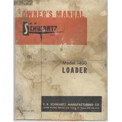 Schwartz Model 1400 Loader Owners Manual