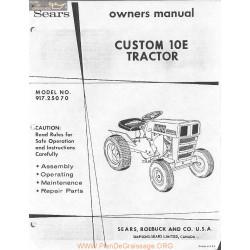 Sears Custom 10e Operator Manual