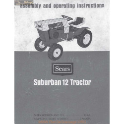Sears Suburban 12 Tractor Assembly And Operating Instructions Manual