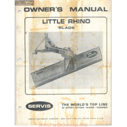 Servis Little Rhino Blade Owners Manual