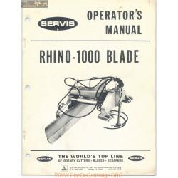 Servis Rhino Rotary Cutter Model 1000 Blade Operators Manual