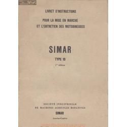 Simar 10 Motobineuse Manuel Entretien Livret Instruction