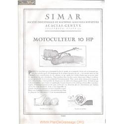 Simar 10hp Motoculteur Fiche Information