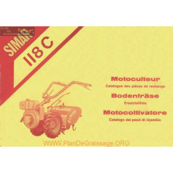 Simar 118 C Motoculteur Catalogue Pieces De Rechange