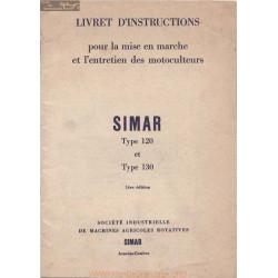 Simar 120 130 Motoculteur Livret Instructions